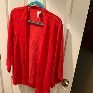 Chico's red sweater